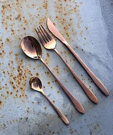 Набор столовых приборов Steel Rose gold