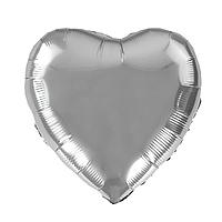 """Фольгированный шар """"Сердце"""" серебро"""
