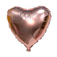 """Фольгированный шар """"Сердце"""" розовое золото"""