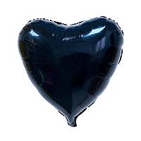 """Фольгированный шар """"Сердце"""" чёрный"""