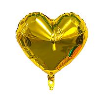 """Фольгированный шар """"Сердце"""" золото"""