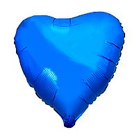 """Фольгированный шар """"Сердце"""" синий"""