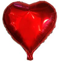 """Фольгированный шар """"Сердце"""" красный"""
