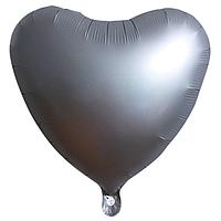 """Фольгированный шар """"Сердце"""" матовый серебро"""