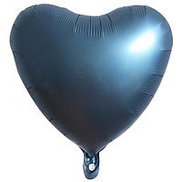 """Фольгированный шар """"Сердце"""" матовый тёмный"""