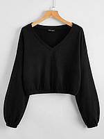 Женский теплый пуловер свободного кроя из трехнитки на флисе, фото 1