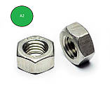 Гайка нержавіюча М3.5 DIN 934 (ГОСТ 5915-70 ГОСТ 5927-70) сталь А2 і А4, фото 2