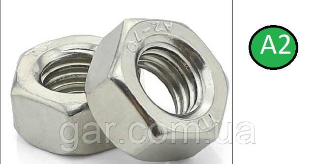 Гайка нержавіюча М4 DIN 934 (ГОСТ 5915-70 ГОСТ 5927-70) сталь А2 і А4