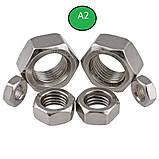 Гайка нержавіюча М4 DIN 934 (ГОСТ 5915-70 ГОСТ 5927-70) сталь А2 і А4, фото 6
