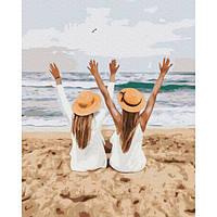 Картина за номерами Подружки на море 40х50 Brushme (Без коробки) GX37561