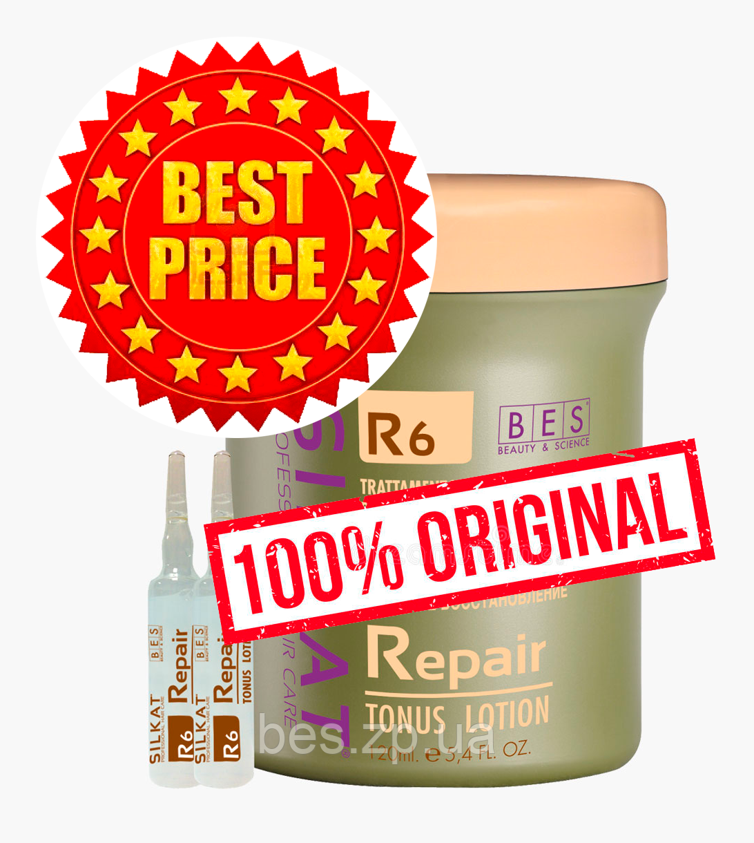 Активна сироватка для волосся з кератиновим комплексом R6 Silkat (Сілкат) Repair