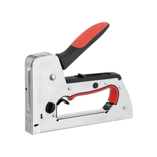 Степлер строительный 3 в 1, функцияTrigger Mode, под скобу 11.3*0.7*6-14 мм, гвоздь 14мм, шпилька 14мм STORM