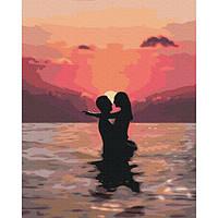 Картина за номерами Закохані на заході 40х50 Brushme (Без коробки) GX37563