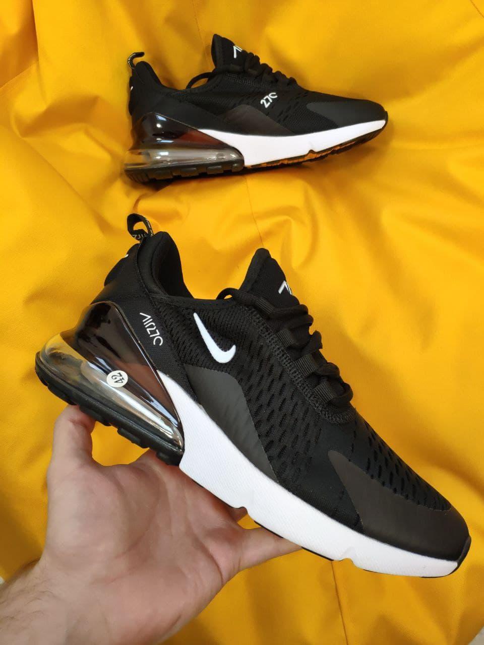 Чоловічі кросівки Nike Air Max 270 (чорно-білі) D63