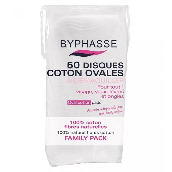 Byphasse Oval Cotton Pads Диски для снятия макияжа овальные средство 50 шт.