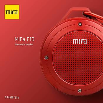 Портативная колонка Mifa F10 Red 3W Bluetooth 4.0 Водонепроницаемый красный динамик 3 Вт + поддержка TF карты