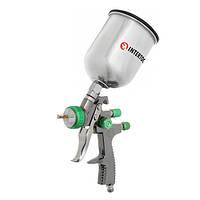 Краскопульт пневматический LVLP GREEN профессиональный, верхний металлический бачок INTERTOOL PT-0131, фото 1
