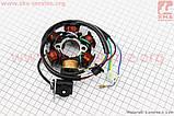 Статор магнето 6 катушек (генератор), высота  на 4т скутер, фото 3