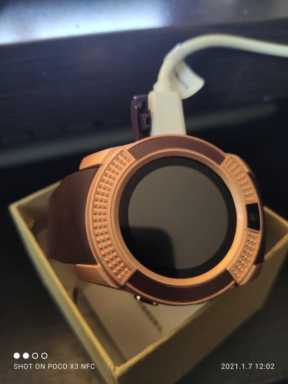 Умные часы Smart Watch GSM Camera V8 Bronze бронза