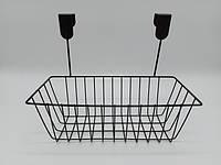 Корзина навесная сетчатая Полка металлическая навесная органайзер Ящики и корзины для хранения
