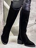 Диор! Сапоги кожаные  лаковые зимние женские, трубы, на невысоком устойчивом каблуке, фото 6