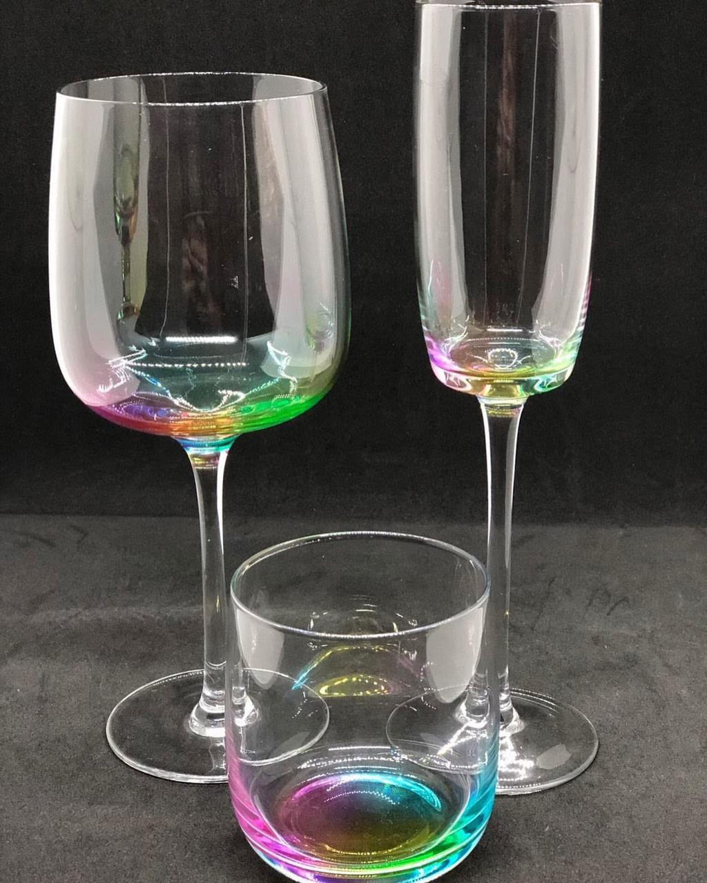 Набор бокалов DS Claire для шампанского 250 мл 4 шт С цветным дном