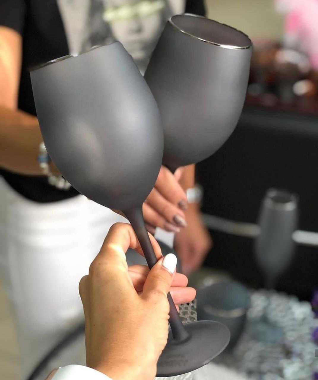 Набор бокалов DS Black Persia для белого вина 400 мл 4 шт Черный