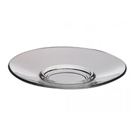 Блюдце стеклянное DS 13 см под чашку с двойными стенками