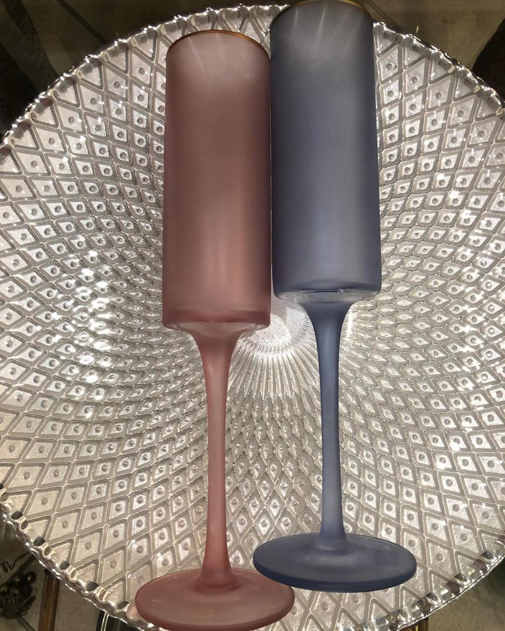 Набор бокалов DS Lady Pink для шампанского 250 мл 4 шт Розовый матовый