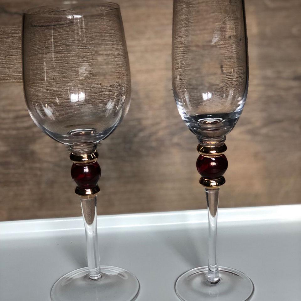 Набор бокалов DS Spray для вина 350 мл 4 шт Прозрачный