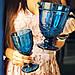 Набор бокалов Кубок DS Vintage Blue для вина 300 мл 6 шт Голубой, фото 3