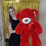 Плюшевый мягкий мишка 130 см красный, фото 2