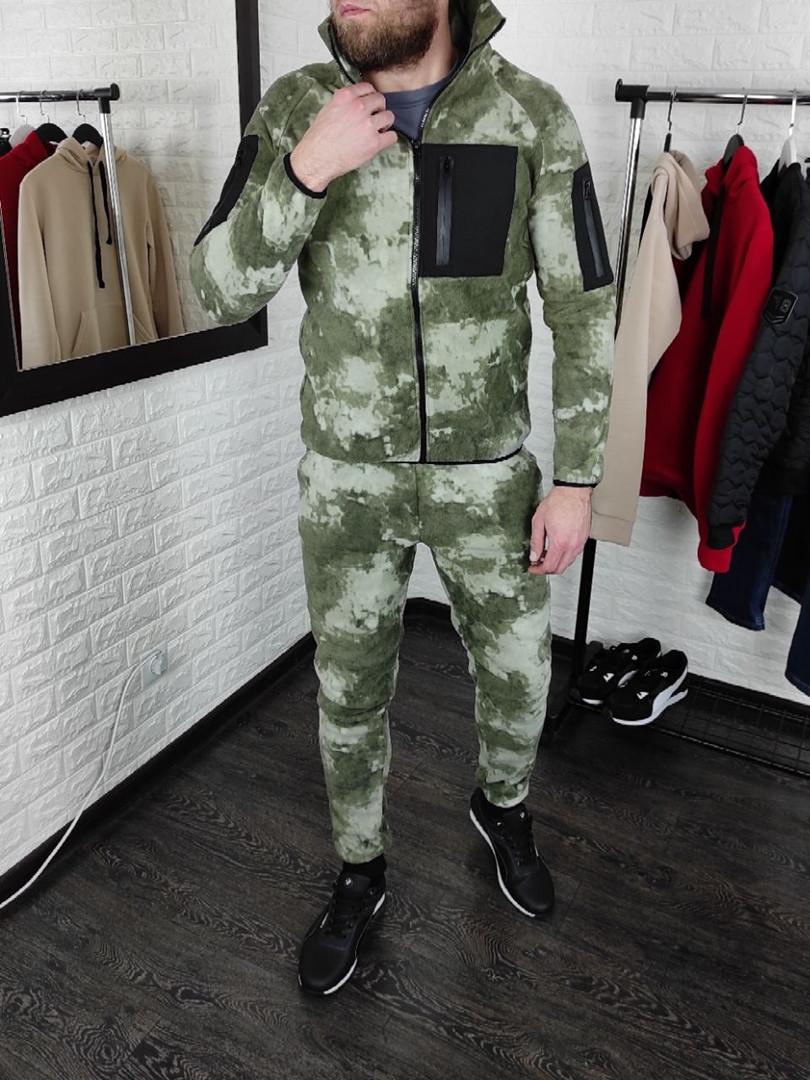 Мужской спортивный тёплый флисовый камуфляжный костюм Сл 1947