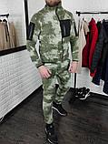 Мужской спортивный тёплый флисовый камуфляжный костюм Сл 1947, фото 2
