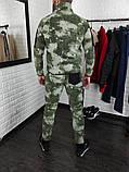 Мужской спортивный тёплый флисовый камуфляжный костюм Сл 1947, фото 3