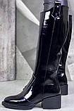 Диор! Сапоги кожаные демисезонные женские, трубы, на невысоком устойчивом каблуке, фото 7
