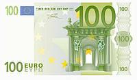 """Съедобные деньги"""" 1 купюра 100Евро на А4""""(код 00509)"""