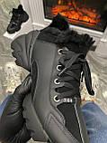 Женские зимние кроссовки Dior D-Connect Winter Black Fur Мех, женские кроссовки диор д коннект зима, фото 3