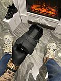 Женские зимние кроссовки Dior D-Connect Winter Black Fur Мех, женские кроссовки диор д коннект зима, фото 6