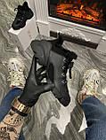 Женские зимние кроссовки Dior D-Connect Winter Black Fur Мех, женские кроссовки диор д коннект зима, фото 2
