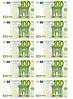 """Съедобные деньги"""" 100Евро 10 шт. на А4""""(код 00509)"""