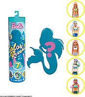 Оригинальная Кукла Барби Сюрприз Цветное Перевоплощение Русалка (GTP41), фото 1