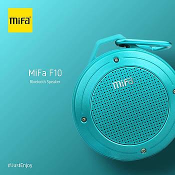 Портативная колонка Mifa F10 Blue 3W Bluetooth 4.0 Водонепроницаемый голубой динамик 3 Вт + поддержка TF карты
