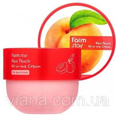 Крем для лица и тела с экстрактом персика FARMSTAY Real Peach All-in-One Cream 300 мл