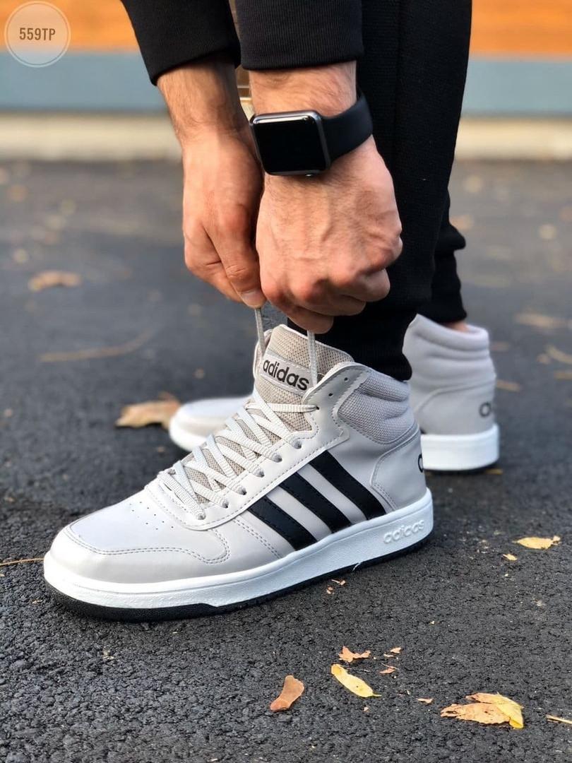 Мужские демисезонные кроссовки Adidas Gray (серые) 559TP