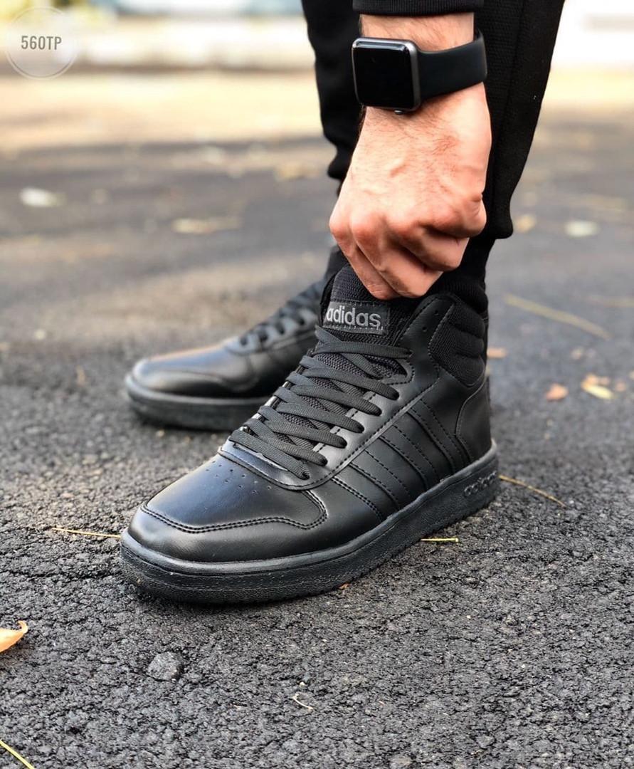 Мужские демисезонные кроссовки Adidas Black (черные) 560TP