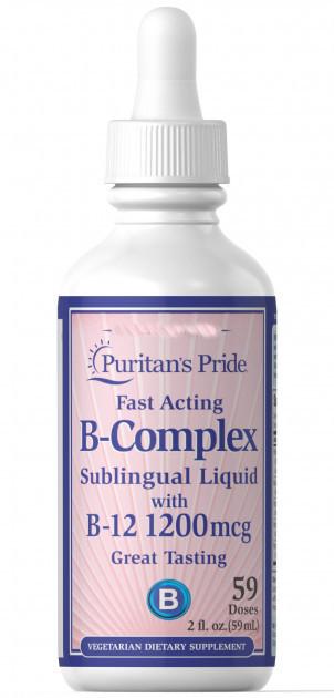 Puritan's pride Vitamin B Complex with Vitamin B-12 Liquid, Жидкий витамин B комплекс  (59ml.)