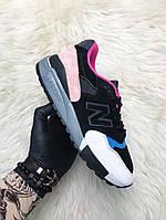 Кроссовки женские New Balance 998 Black Peach (Черный/Персиковый). Стильные женские кроссовки.