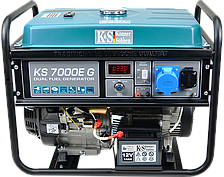 Газ-бензиновая электростанция Konner&Sohnen KS 7000E G (5,5 кВт)