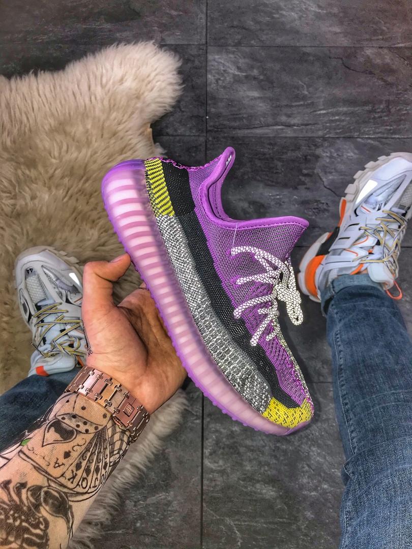 Кроссовки мужские Yeshaya (Фиолетовый). Стильные мужские кроссовки фиолетового цвета.